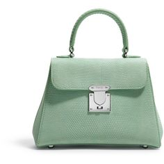 Asprey 167 Mini, Seafoam Lizard Streamline Satchel