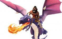 Clash of Clans Hog Rider Dragon