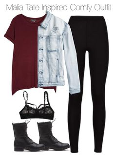 """Malia Tate Inspired Comfy Outfit"" by staystronng ❤ liked on Polyvore featuring Vince, Hanky Panky and RVCA"