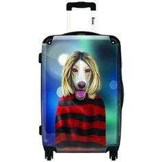 iKase Grunge Artwork 2 20-inch Hardside Spinner Upright Suitcase