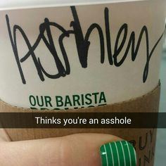 I see what you think of me Starbucks...