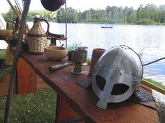 Kypärä - Helmet, Hämeen keskiaikamarkkinat 2014 - Häme Medieval Faire 2014, © Piela Auvinen