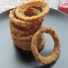 Healthy Oven Baked Onion Rings by TheFoodiePhysician