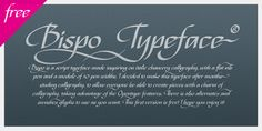 Bispo is a script typeface made inspiring on italic chancery calligraphy