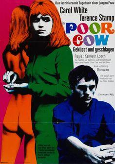German poster for POOR COW (Ken Loach, UK, 1968) Designer: Fritz Fischer Poster source: Heritage Auctions