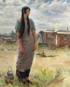 Beulah,the Gypsy Girl Artwork By Dame Laura Knight Oil Painting & Art Prints On Canvas For Sale Matisse, Critique D'art, Tate Gallery, Knight Art, English Artists, Impressionist Art, Art Prints For Sale, Illustrations, Female Art