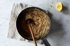 Sue Kreitzman's Lemon Butter Angel Hair Pasta recipe on Food52
