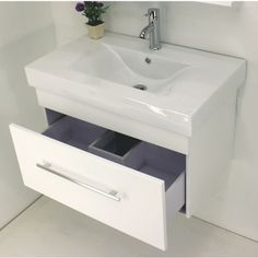 "30"" modern floating solid wood vanity features a beautiful ceramic sinks and self-closing drawers. Comes in espresso and white. Model vp017 Regular $299 Sale $199 *Mirror, drainage and faucet are excluded."