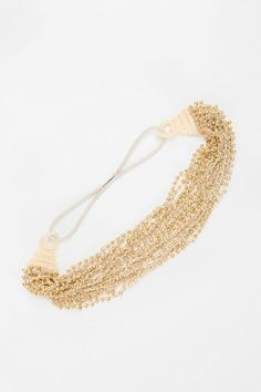 gold beaded headband