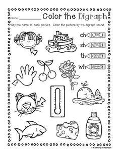 Digraphs Bingo Dab Activity Sheet ( ch- / sh- / th- / wh