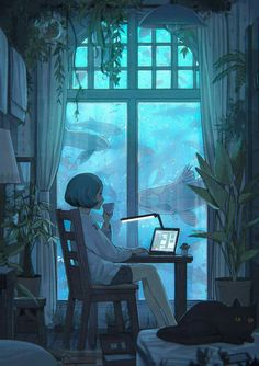 e-shuushuu kawaii and moe anime image board Anime Kunst, Anime Art, Manga Art, Manga Anime, Pretty Art, Cute Art, Pretty Fish, Graphisches Design, Design Girl