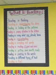 what is reading anchor chart Reading Is Thinking, What Is Reading, Close Reading, Reading Skills, Teaching Reading, Guided Reading, Reading Wall, Teaching Ideas, Reading Lessons