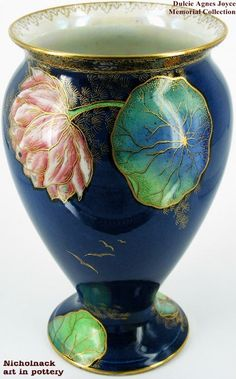 Carlton Ware Crested Bird & Water Lily Pattern 3529