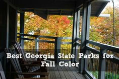 Georgia State Parks offer fantastic options for viewing fall leaf color! Luckily, Georgia State Parks gave us the scoop on which parks offer the best fall showing.
