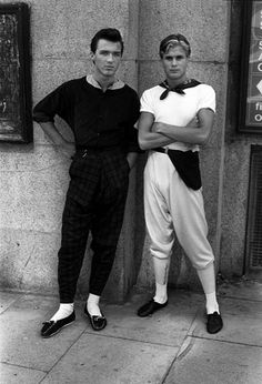 Martin Kemp (left) and Steve Norman later of Spandau Ballet on the King's Road, 1980