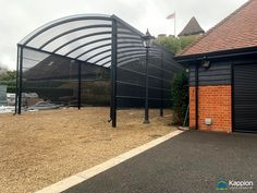 Motorhome Canopy with Stormshield infills installed in Surrey by Kappion Carports & Canopies Carport Canopy, Canopies, Surrey, Motorhome, Contemporary, Building, Outdoor Decor, Beautiful, Rv