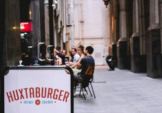 As part of its unstoppable plan for world domination, Huxtaburger is officially headed south. But before it crosses the river, Broadsheet sat down with the founding trio to dissect the success of the burger. Melbourne Restaurants, Goat House, Sandwich Board, Restaurant Food, Sense Of Place, Cafe Interior, Store Design, Retail, Design Ideas