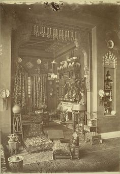 Cairo. Egyptian Home (Interior)    Collection: A. D. White Architectural Photographs