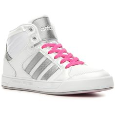adidas NEO Raleigh High-Top Sneaker - Womens ($60) ❤ liked on Polyvore featuring shoes, sneakers, tenis, athletic & sneakers, hi tops, high top shoes, adidas shoes, adidas high tops and adidas trainers