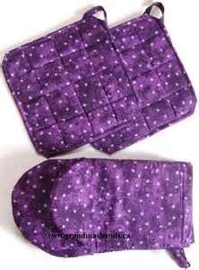 Purple Star Oven Mitts