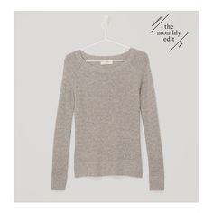 LOFT Basketweave Sweater ($50) ❤ liked on Polyvore featuring tops, sweaters, pale smoke grey, grey sweater, grey top, side slit top, textured sweater and gray sweater