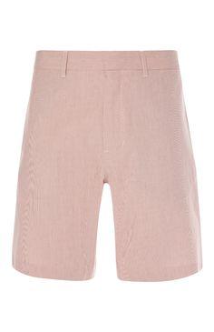 Red Pinstripe Smart Shorts