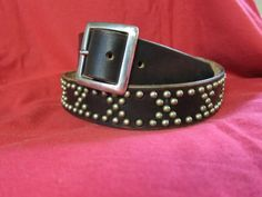 Handmade studded Ton up Rocker rockabilly by Legendaryvintage - Stud up with this custom-made leather belt by #Legendaryvintage #SFEtsy