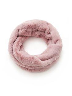 Scarves by BORNTOWEAR. Faux Fur Infinity Scarf