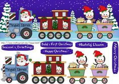Penguin Express Christmas Large DL Quick Card
