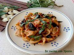 Orecchiette pomodoro fresco rucola e olive