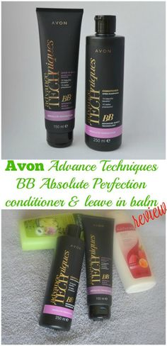 Avon Advance Techniques BB Absolute Perfection conditioner & leave in balm review.   #haircare #beauty #avon via @beautybymissl