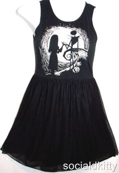 S M L new~Disney~NIGHTMARE before CHRISTMAS~punk/goth~SALLY~JACK~baby doll~DRESS