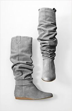 DZ said slouchy boots are perfect for me and suede is even better than leather. Second base. Tall Boots, Suede Boots, Buy Shoes, Me Too Shoes, Slouchy Boots, Kinds Of Clothes, Winter Wear, Riding Boots, Beauty Network