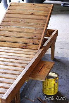 Making a lounge from slats or could use an old door. Notice the pullout shelf. http://www.thedesignconfidential.com/ search for lounger