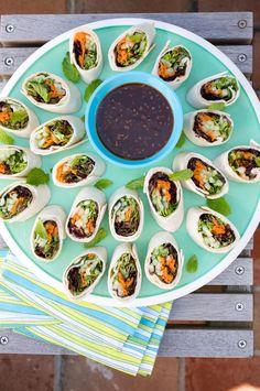 Meatless Mondays: Vietnamese Vegetable Pinwheels #myplate