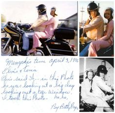 """Elvis and Tori Petty, Memphis, April 3, 1976 Photo by:  Stalker fan - Betty Page    """"Betty Page was one of the more obsessed fans who hung around the Graceland gates in the late 70s.""""   Her self-published, 1978 chronicle of that life, I Got Ya, Elvis, I Got Ya !, offers absolutely mind-blowing prose."""""""