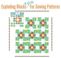 Exploding Blocks & Quilts for Patterns