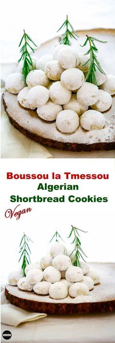 Vegan Boussou la Tmessou - Algerian Shortbread Cookies