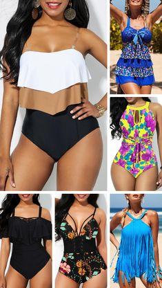 If you& searching for a one-piece that isn& sporty, meet the Rotita, a sexier take on the fuller coverage swimsuit that features lots of curve-hugging. Plus Size Bikini Bottoms, Women's Plus Size Swimwear, Curvy Swimwear, Trendy Swimwear, Cute Swimsuits, Bathing Suits One Piece, One Piece Swimwear, Curvy Bikini, Bikini For Women