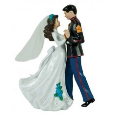 Make your wedding unforgettable with our Enlisted Marine Cake Topper. You can personalize your cake topper with rank, hair colors (bald not available), and flower color. Made of resin and measures 5 1/2 tall x 4 wide. $139.99 from grunt.com