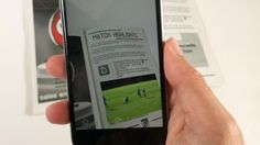 A semi-professional club use technology to show fans videos on a page in the matchday programme. Is this the future for football?
