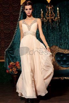 Abiti in Magazzino-Profondo scollo a V nudo vestito rosa elegante Slim sera damigella d\'onore
