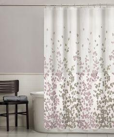 Grey   Purple Sylvia Shower CurtainTahari Printemps Purple Plum Gray Teal on White Cotton Blend  . Grey And Purple Shower Curtain. Home Design Ideas