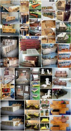 Superb Ideas of Old Wood Pallets Reusing