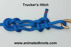 Tutorial on Trucker's Hitch (Power Cinch Knot) Tying