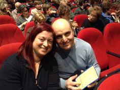 """#parlailpubblico #TeatriDICivitanova """"Ci piace il teatro perchè anche uno spettacolo può essere uno spunto per parlare fra noi e condividere le nostre opinioni"""" (Laura ed Antonello)  25 febbraio 2014"""