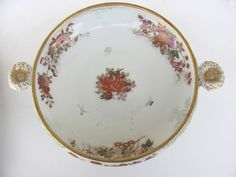 Japanese Export Low Serving Bowl from blacktulip on Ruby Lane