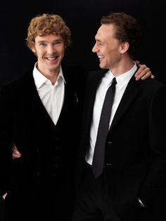 The Brits are taking over!!! Benedict Cumberbatch and Tom Hiddleston (they worked together in Spielberg's War Horse as Major Jamie Stewart and Captain James Nicholls respectively).