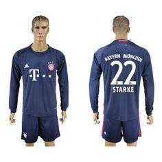 Bayern München 16-17 #Starke 22 målmand Hjemmebanetrøje Lange ærmer,245,14KR,shirtshopservice@gmail.com