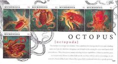 Micronesia Ocean SEA Octopus 5 Stamp Collectible Sheet MIC1229H | eBay